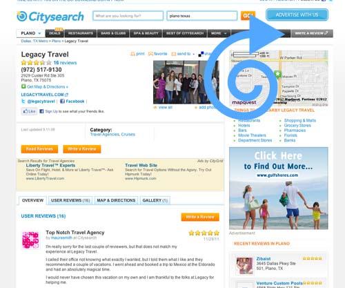 Citysearch Legacy Travel